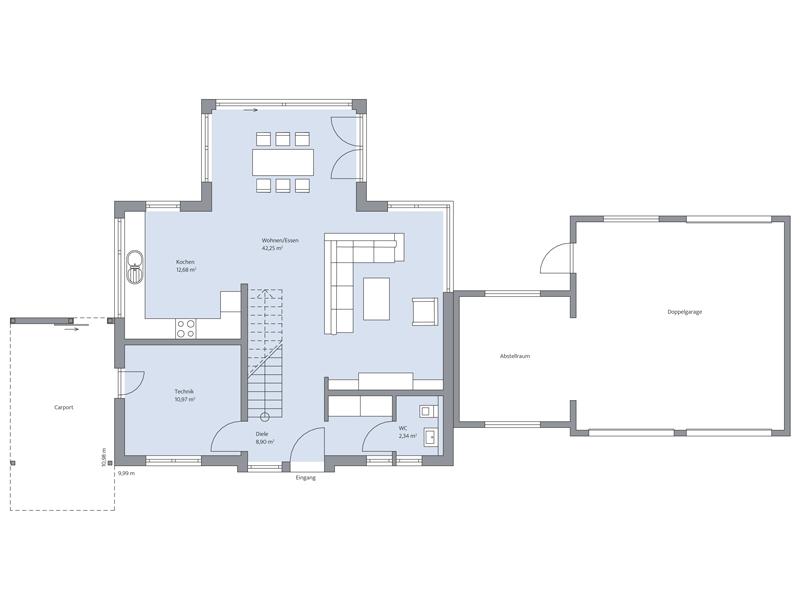 Haus Westermann von Baumeister-Haus. Grundriss Erdgeschoss