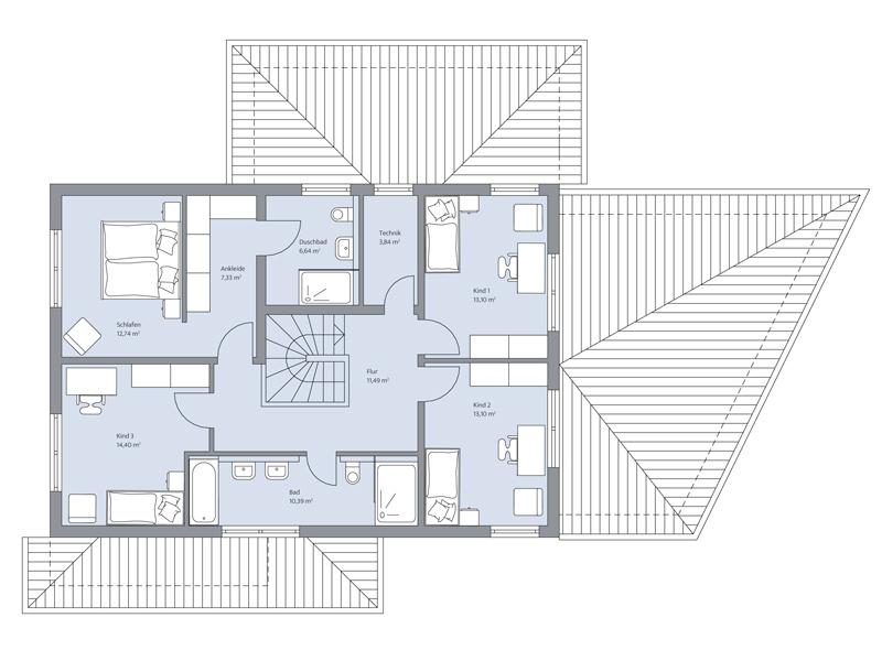 Haus Faber von Baumeister-Haus -OG