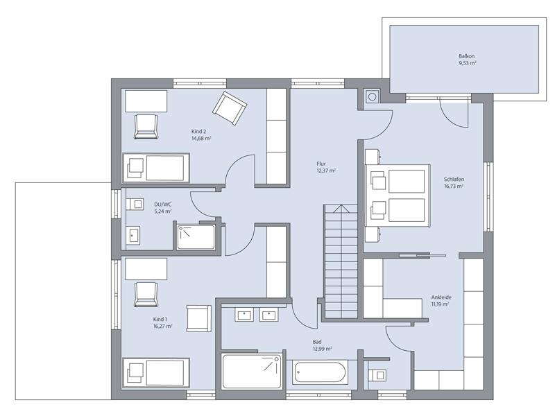 Haus Gerlach von Baumeister-Haus - Obergeschoss