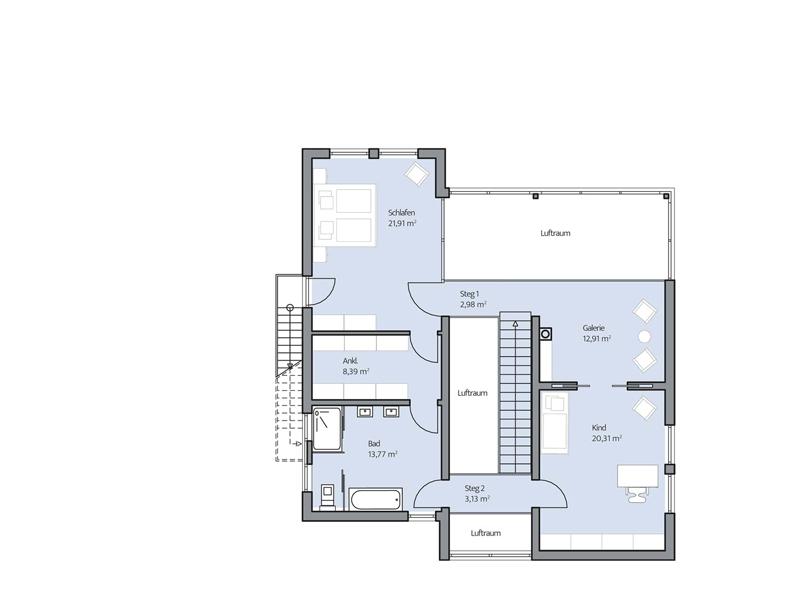 Haus Jonas von Baumeister-Haus - OG