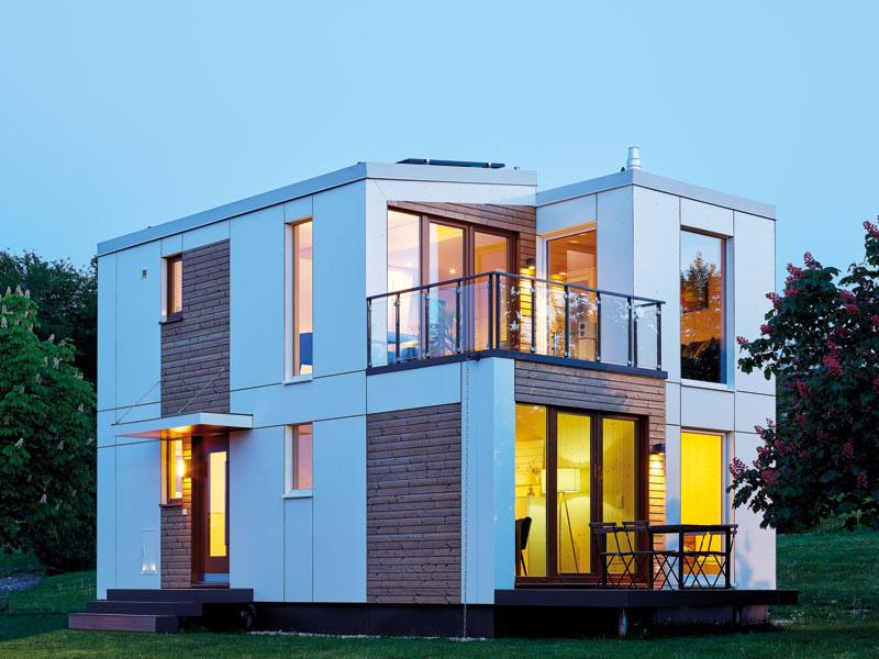 Haus aus 4 Modulen vom Tiny-House-Hersteller Wolf System