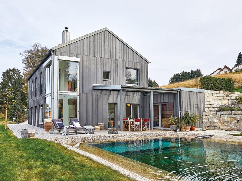 Gesund bauen mit Baufritz, Haus am Wald