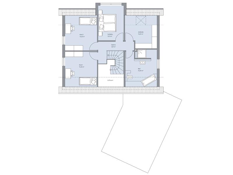 Haus Vahrenholt von Baumeister-Haus - DG