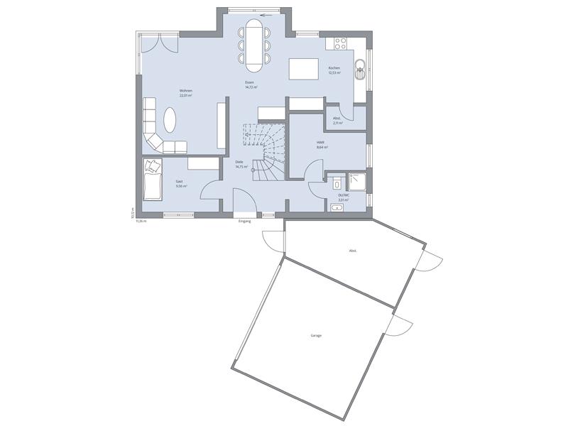 Hauas Vahrenholt von Baumeister-Haus - EG
