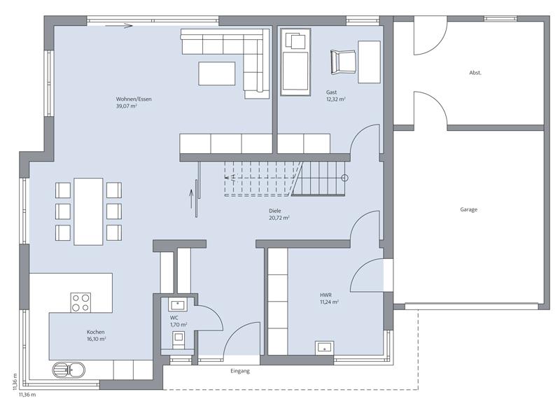Haus Pfeilschmidt von Baumeister-Haus - EG