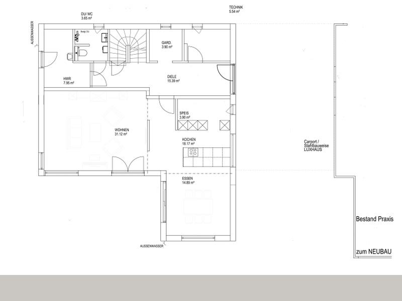 Satteldach Landhaus 200 von Luxhaus -EG