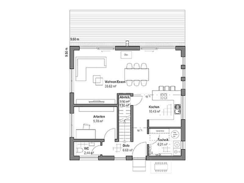 Luxhaus Walmdach 137 EG