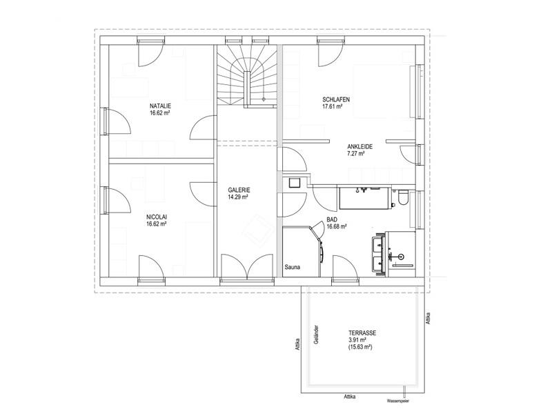 Satteldach Landhaus 200 von Luxhaus - OG