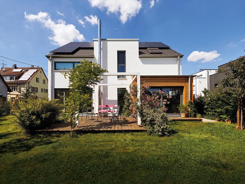 Haus Schönau Gussek Haus aussen Terrasse