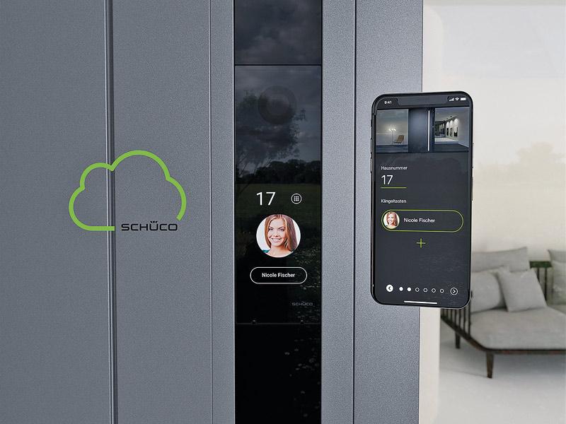 Smarte Gegensprechanlage von Schüco: DCS SmartTouch Modul für Audio- und Video-Türkommunikation