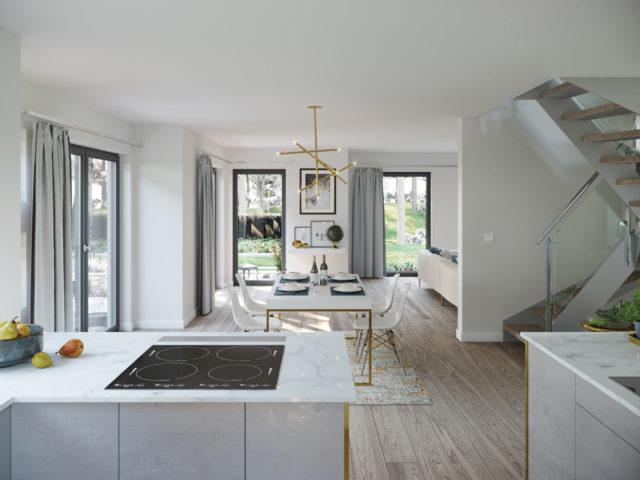 Solitaire-E-165 E3 von Schwabenhaus, Küche, Essbereich, Wohnbereich