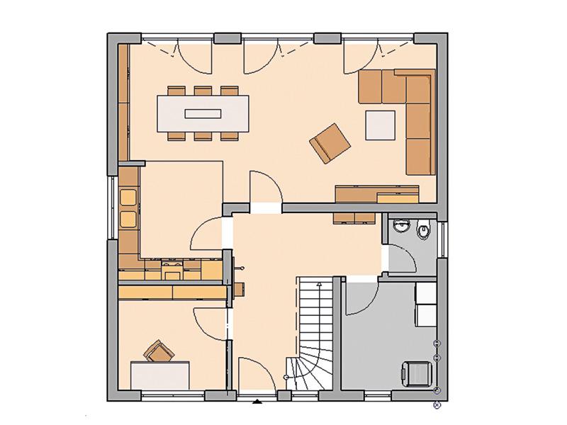 Familienhaus Jano von Kern-Haus Grundriss EG