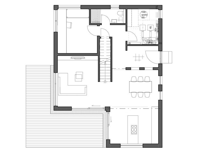 Luxhaus Walmdach 160 Grundriss EG