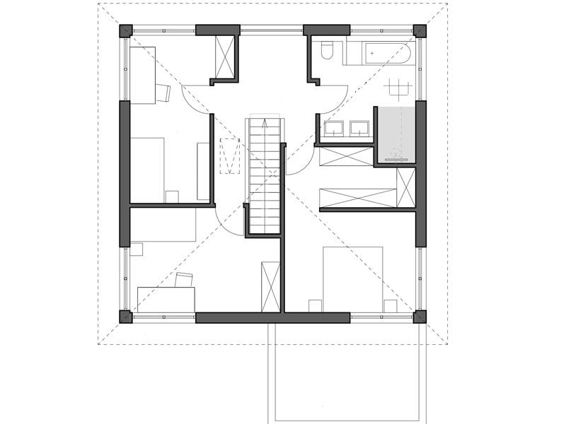 Luxhaus Walmdach 160 Grundriss OG