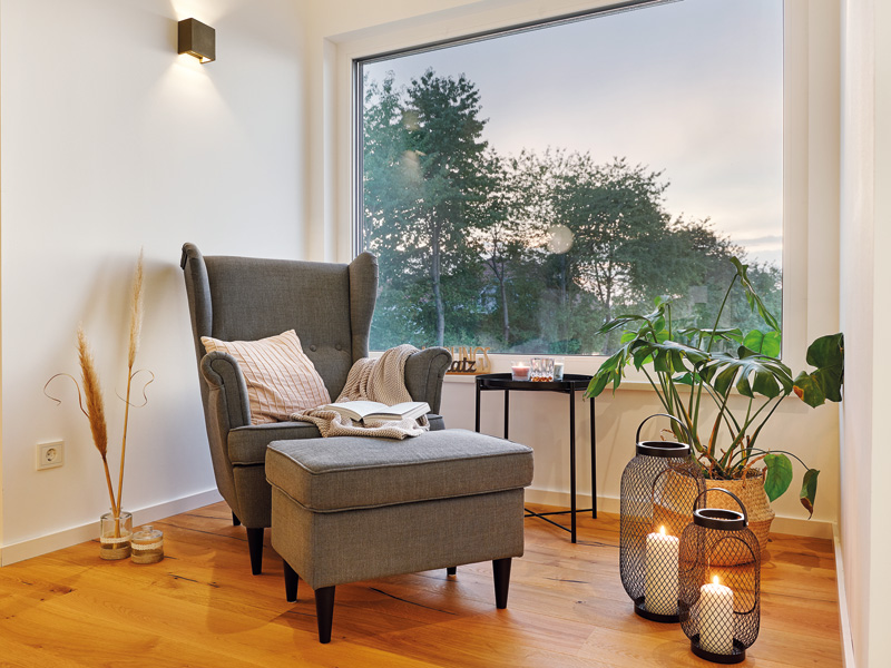 Luxhaus Walmdach 160 Lesen wohnen