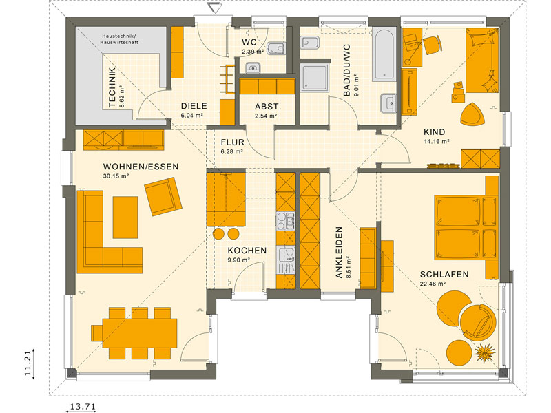 Grundriss Solution 101 V3 Livinghaus