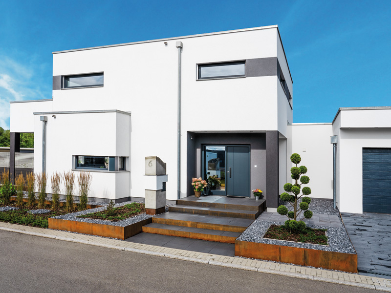 Entwurf von Weberhaus Recker aussen Eingang