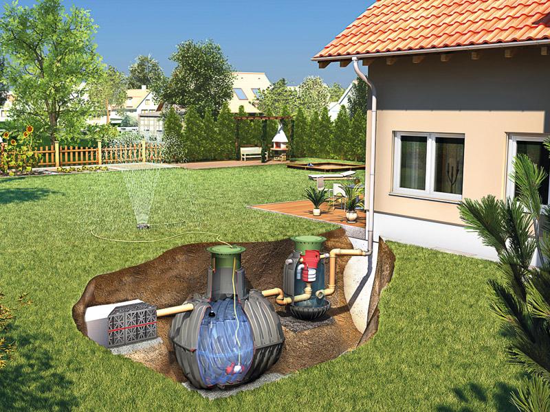 Gartenbewässerung Wassertank