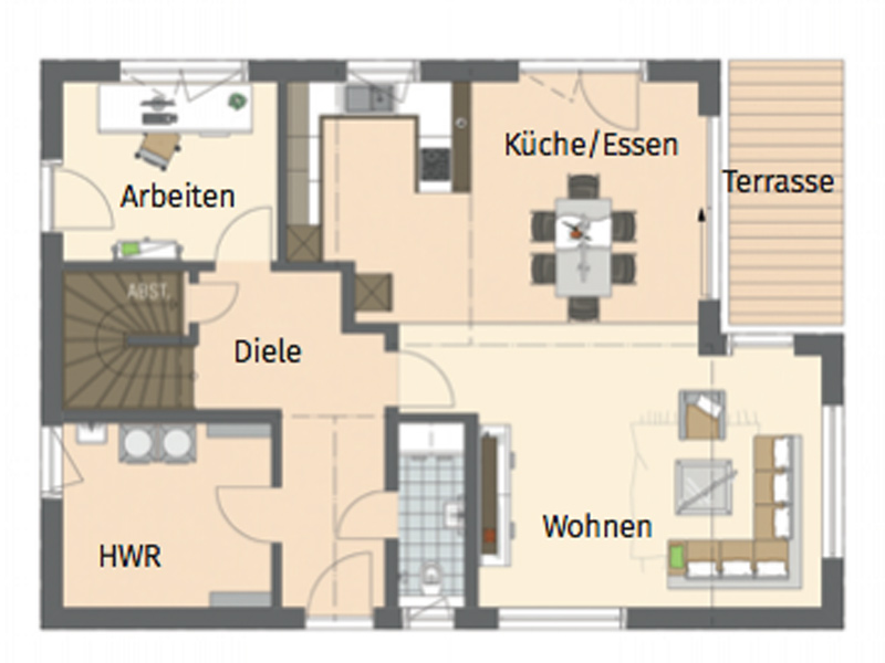 Grundriss EG Medley 3.0 400 B von Fingerhaus