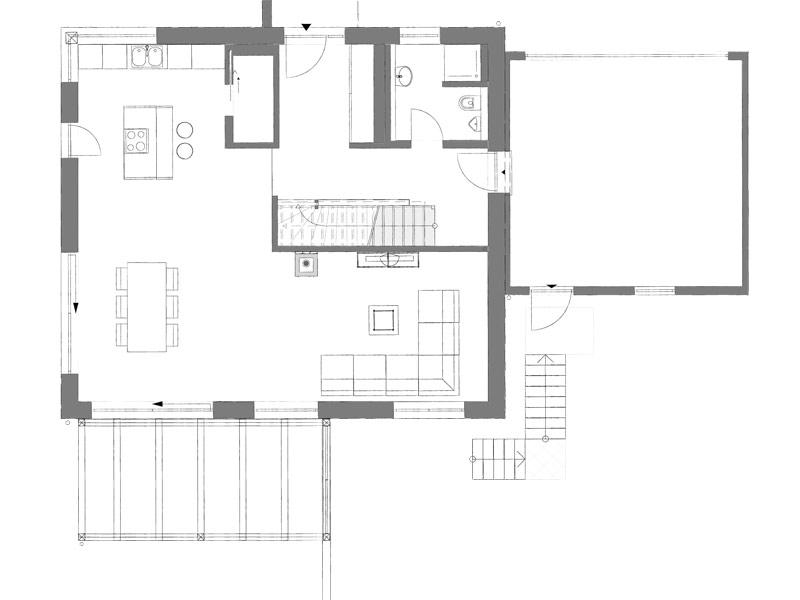 Grundriss Erdgeschoss individuelle Planung von Kampa
