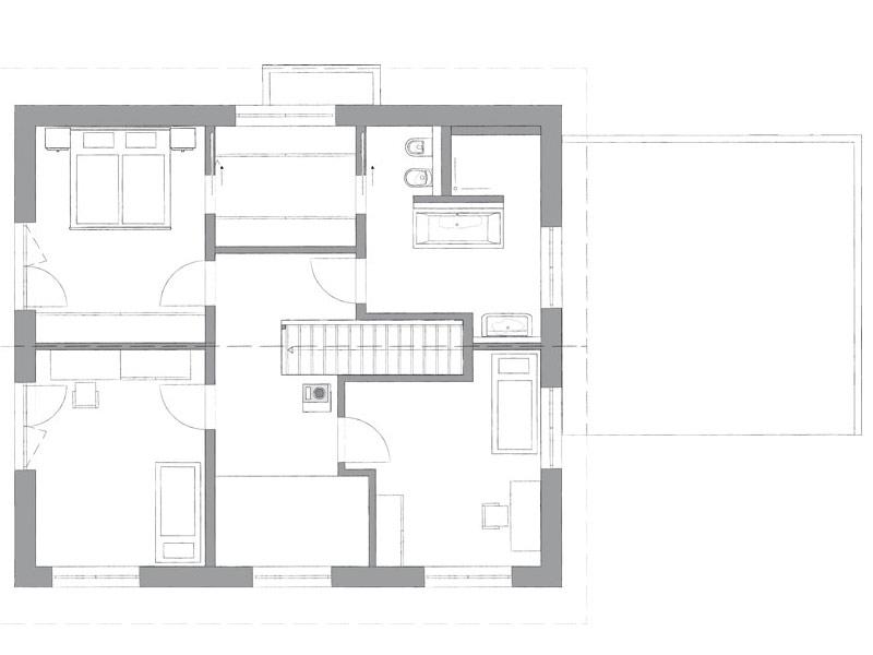 Grundriss Obergeschoss individuelle Planung von Kampa