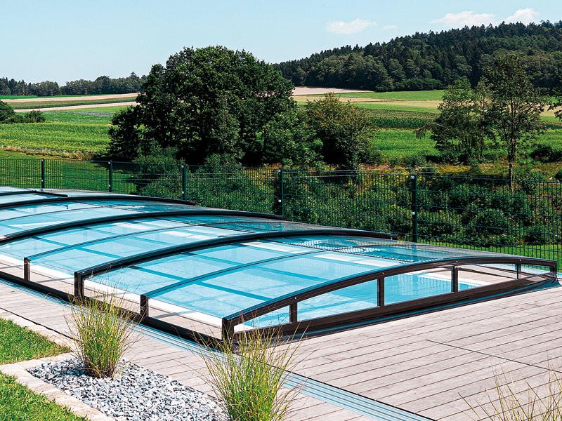Pool-Systems-Überdachung