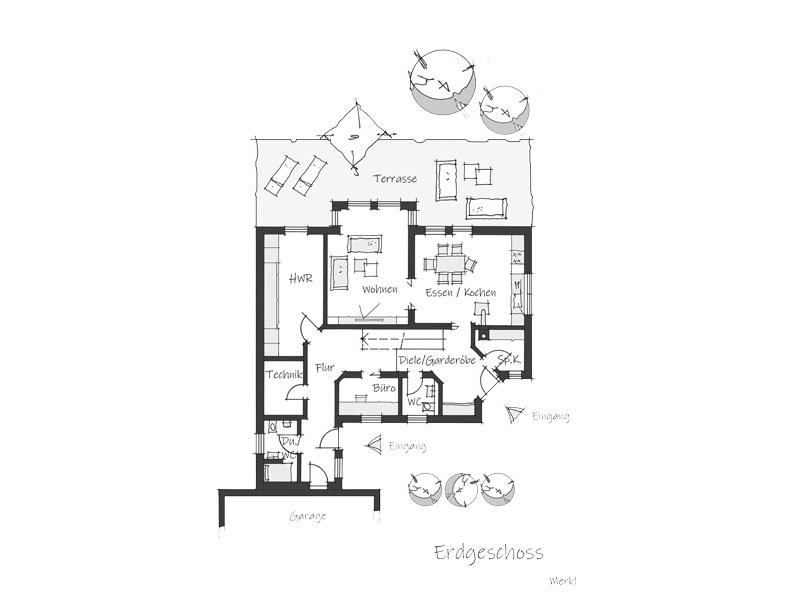 Grundriss Erdgeschoss Haus Merkl von Wolf System