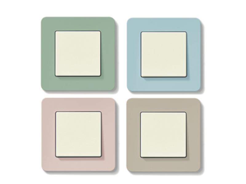 Hager-Steckdosen-pastell Lichtschalter