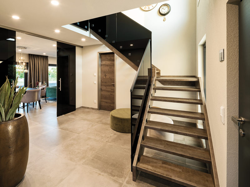 Treppengestaltung FingerHaus, Musterhaus Gießen