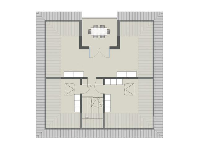 Grundriss 2. Obergeschoss Stadtvilla Cesena von Gussek Haus