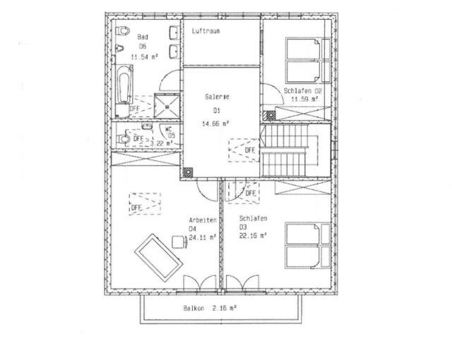 Architektenhaus Ahornsee von Isartaler Holzhaus, OG