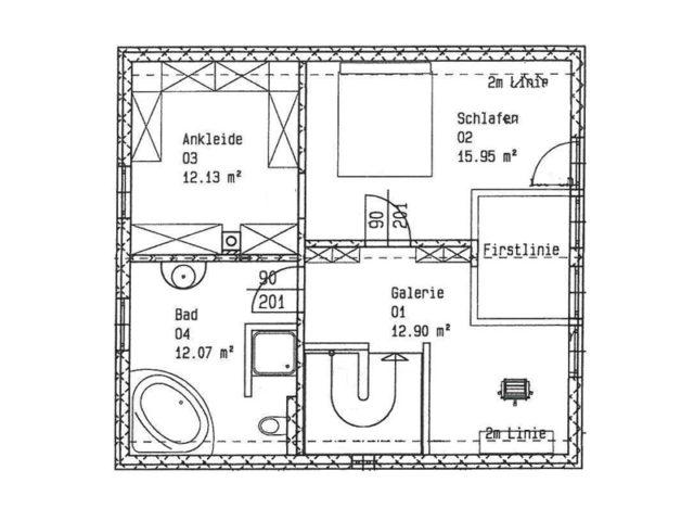 Architektenhaus Kochelsee von Isartaler Holzhaus, DG