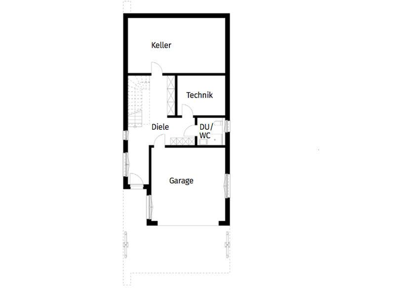 Untergeschoss Grundriss Bungalow Haus Leitinger von Griffnerhaus