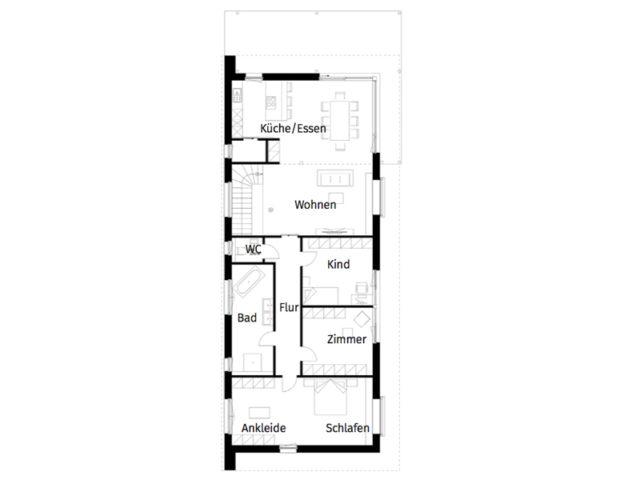 Obergeschoss Grundriss Bungalow Haus Leitinger von Griffnerhaus