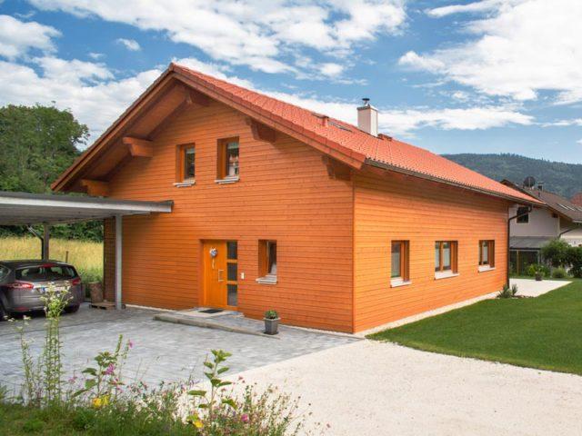 Architektenhaus Traunsee von Isartaler Holzhaus, Carport, Eingang