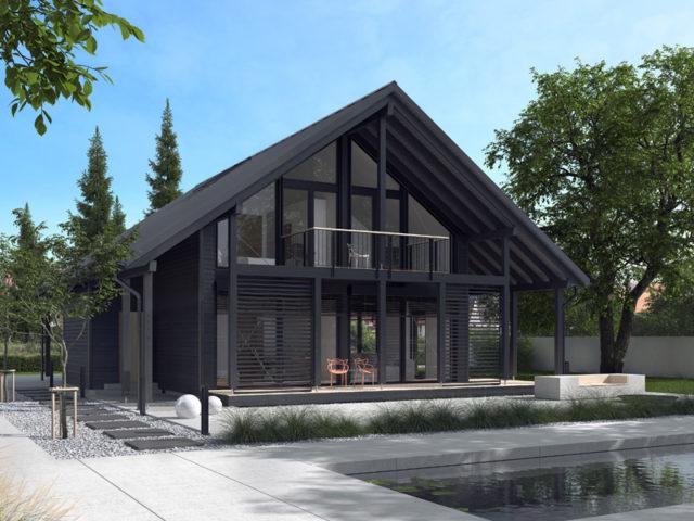 Architekturentwurf Ausblick von Baufritz, Garten, Terrasse