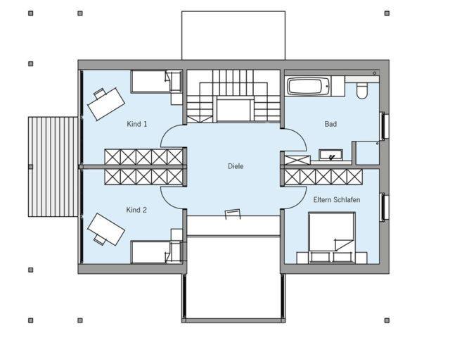 Architekturentwurf Ausblick von Baufritz, OG