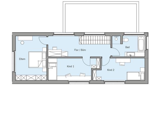 Architekturentwurf Lichtblick von Baufritz, OG
