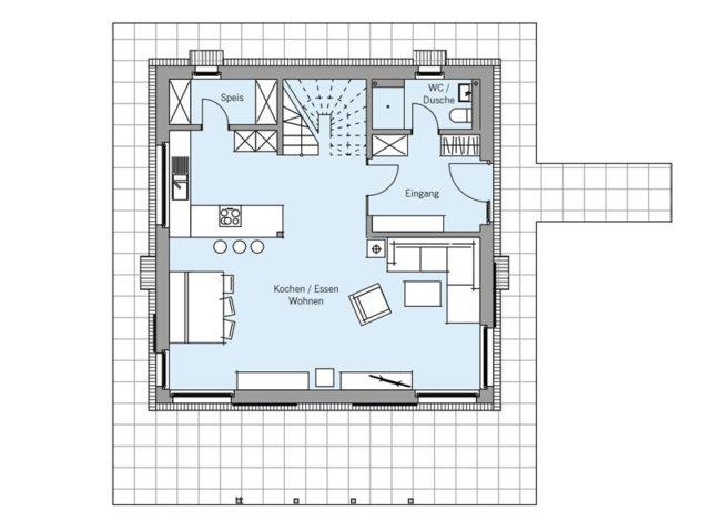 Architekturentwurf Stadtfein von Baufritz, EG