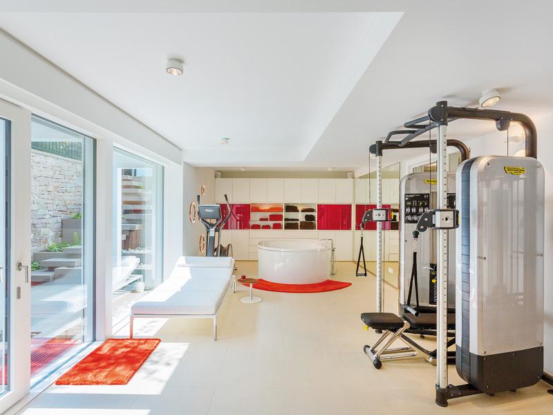 Haus Art 6 Westerwald von Huf Haus Fitnessbereich