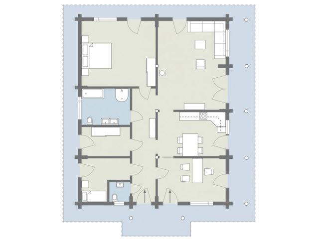 Blockhaus Mikado bel étage von Léonwood