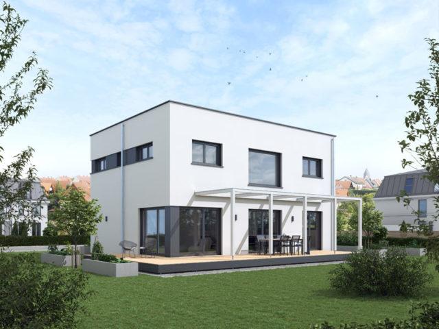 Architekturentwurf Ideenreich Städtisch von Baufritz Terrasse