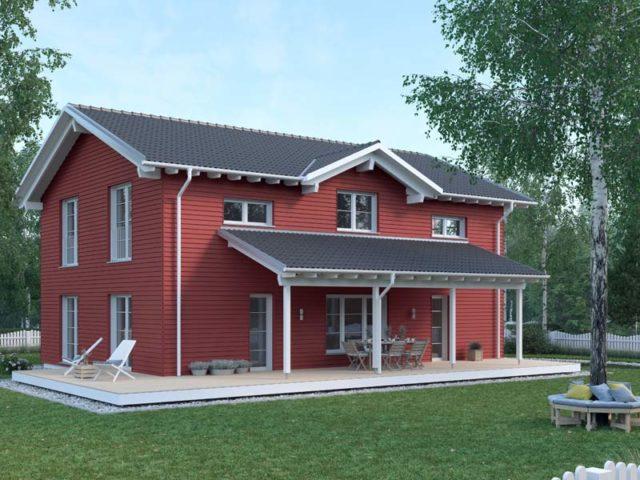 Architektenentwurf Nordic von Baufritz Aussenansicht