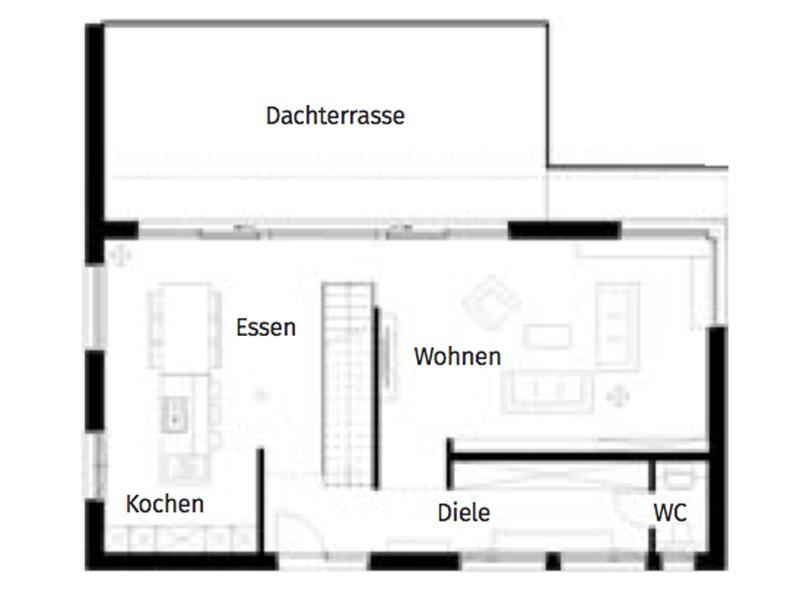 Grundriss Erdgeschoss Haus Handl von Griffnerhaus