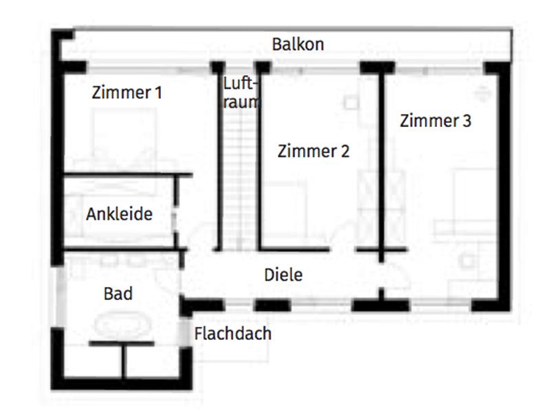 Grundriss Obergeschoss Haus Handl von Griffnerhaus
