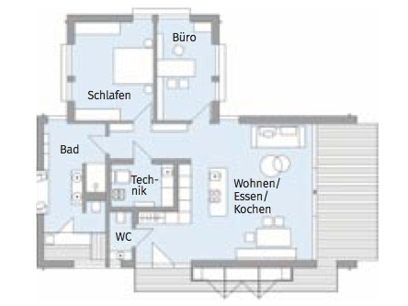 Grundriss Baufritz Freiraum