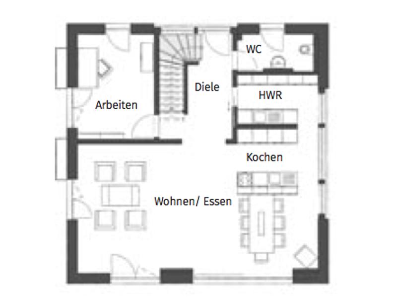 Grundriss Erdgeschoss Kampa Magos 2.1570