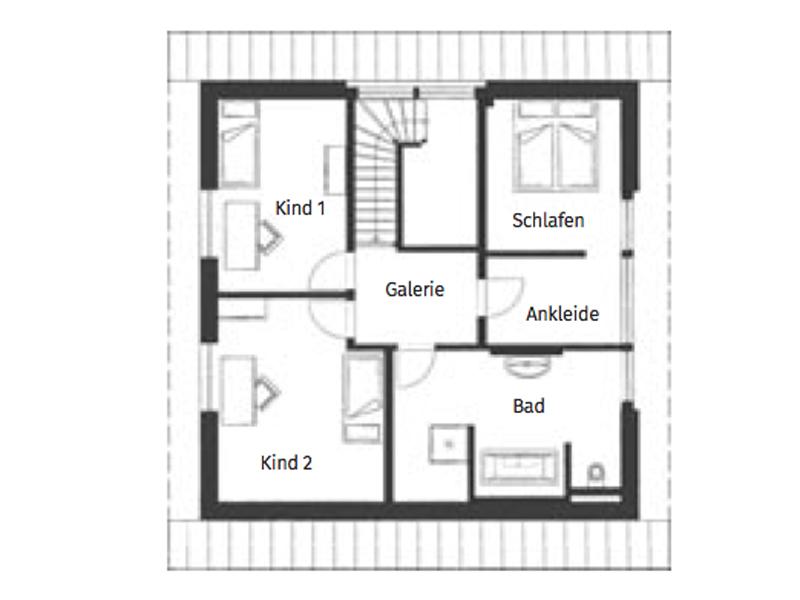 Grundriss Obergeschoss Kampa Magos 2.1570