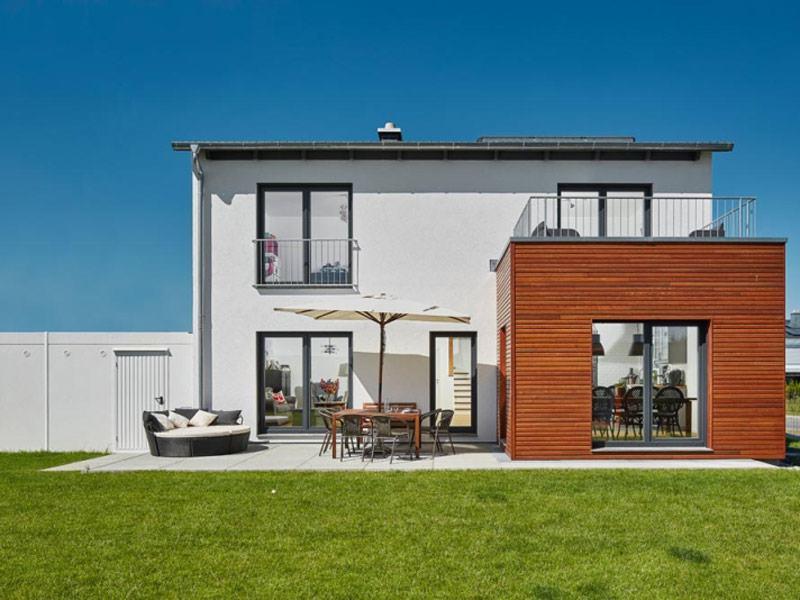 Luxhaus Satteldach Landhaus 151. Außenansicht
